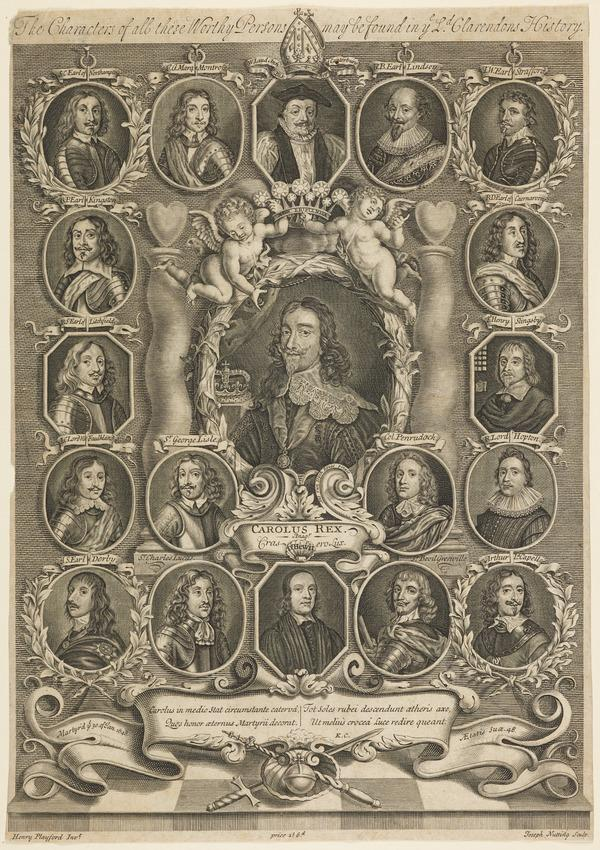 Charles I, 1600 - 1649. Reigned 1625 - 1649 (with 18 of his followers)