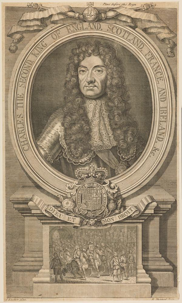 Charles II, 1630 - 1685. King of Scots 1649 - 1685, King of England and Ireland 1660 - 1685 (1733)