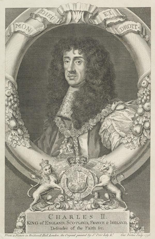 Charles II, 1630 - 1685. King of Scots 1649 - 1685, King of England and Ireland 1660 - 1685 (Published 1722)