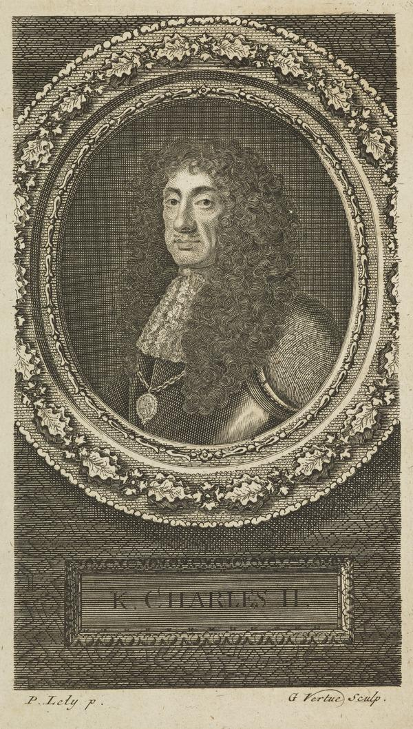Charles II, 1630 - 1685. King of Scots 1649 - 1685, King of England and Ireland 1660 - 1685 (Published 1745)