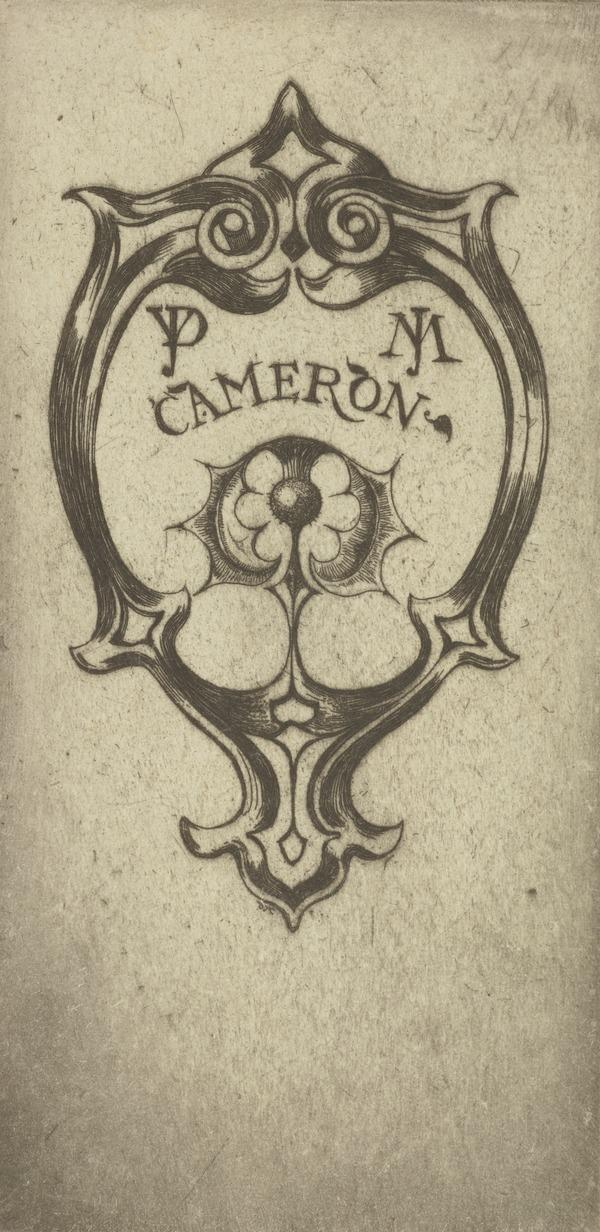 D.Y. and J.M. Cameron (Bookplate) (1898)