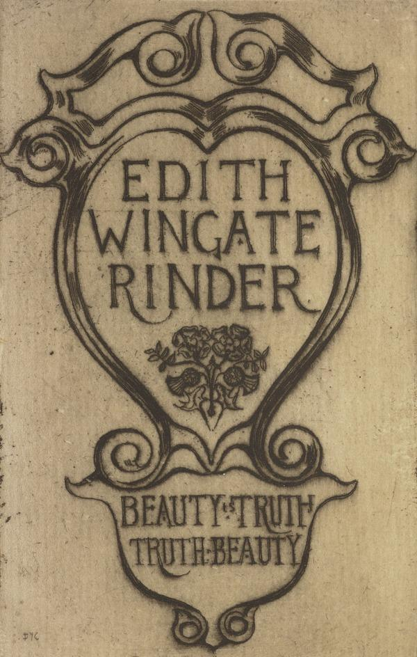 Edith Wingate Rinder (Bookplate) (1909)
