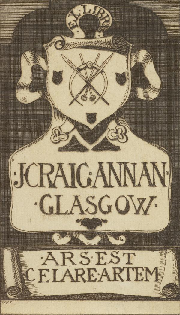 James Craig Annan (Bookplate) (1892)