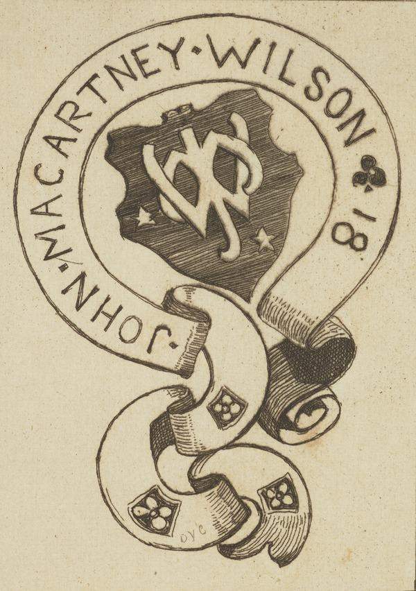 John Macartney Wilson (Bookplate) (1892)