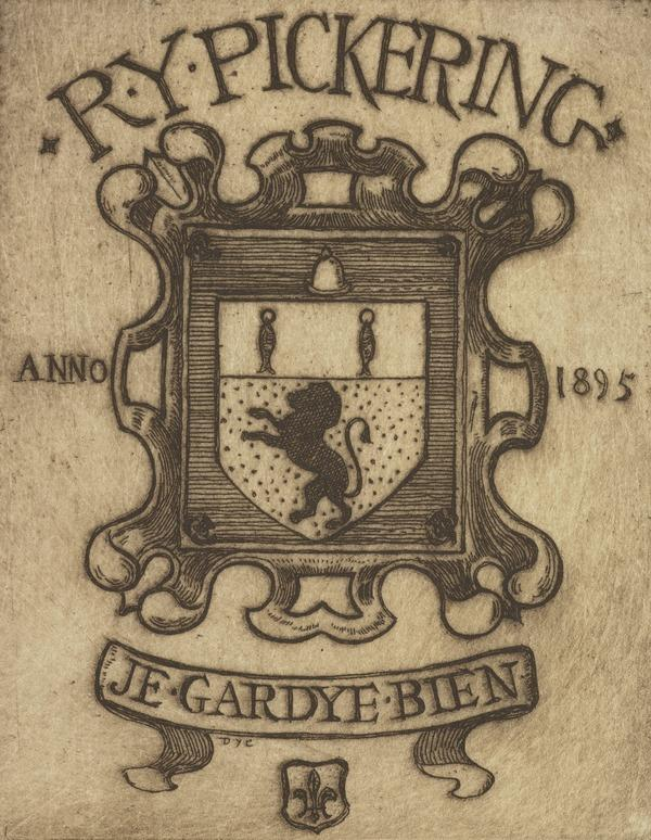 R.Y. Pickering. No. 2 (Bookplate) (1895)