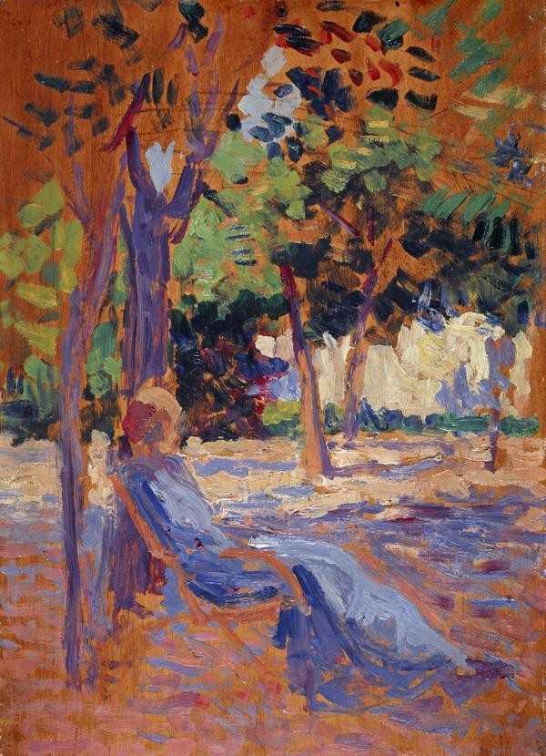 Lucie Cousturier (1876 - 1925) in her Garden (1890 - 1905)