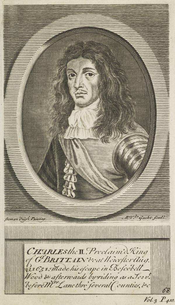 Charles II, 1630 - 1685. King of Scots 1649 - 1685, King of England and Ireland 1660 - 1685 (Published 1713)