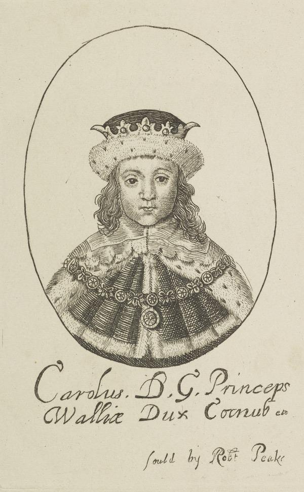 Charles II, 1630 - 1685. King of Scots 1649 - 1685, King of England and Ireland 1660 - 1685 (when Prince of Wales)