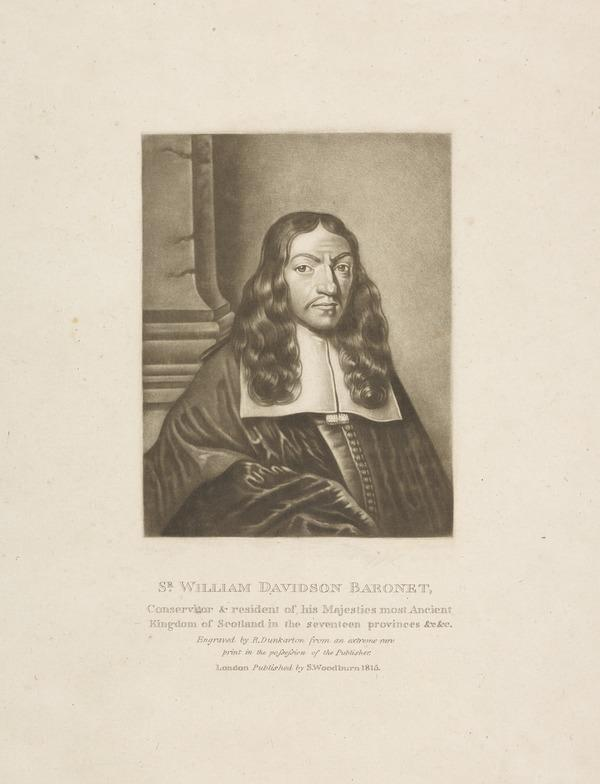 Sir William Davidson of Curriehill, 1615 / 1616 - 1689. Conservator of the Staple at Veere