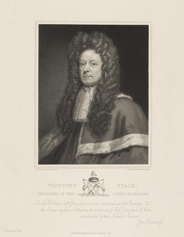 James Dalrymple, 1st Viscount Stair, 1619 - 1695. President of the Court of Session (Published 1825)