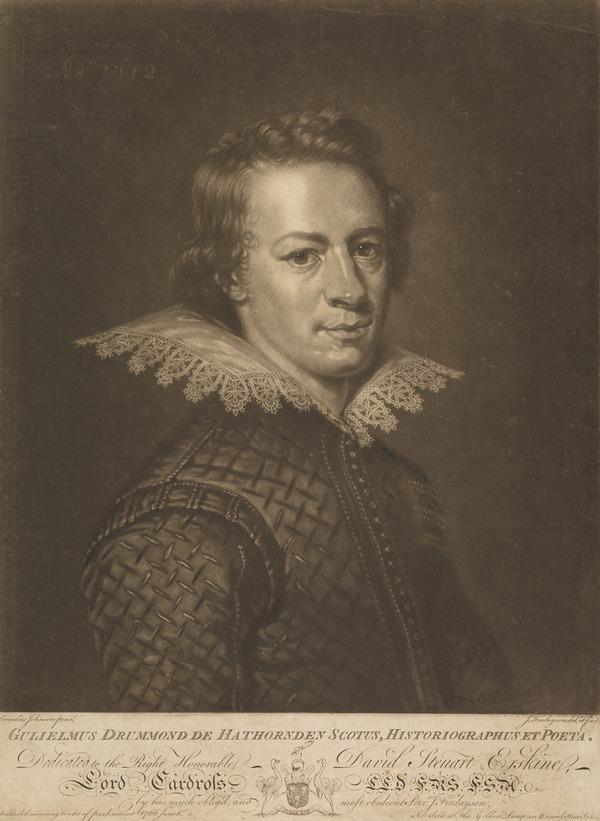 William Drummond of Hawthornden, 1585 - 1649. Poet (Published 1766)