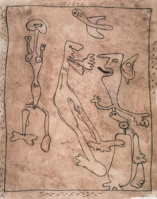 Untitled (Figures and Bird) (About 1934 - 1936)