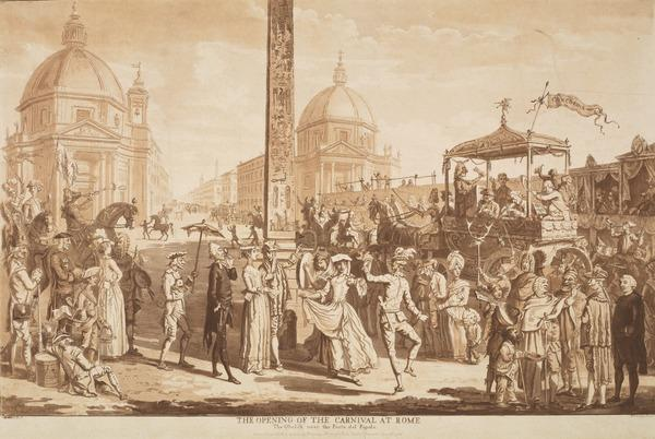 The Opening of the Carnival at Rome (Published 1780)