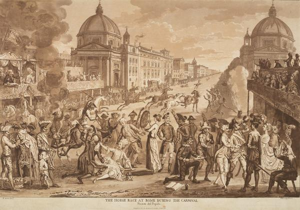The Horse Race at Rome during the Carnival (Published 1781)