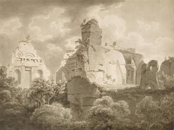 The Ruins of the Imperial Palace from the Vineyard of the English College on the Palatine Hill (1801)