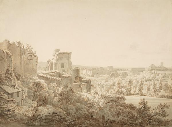 Views of the Baths of Caracalla from the Imperial Palace (1801)