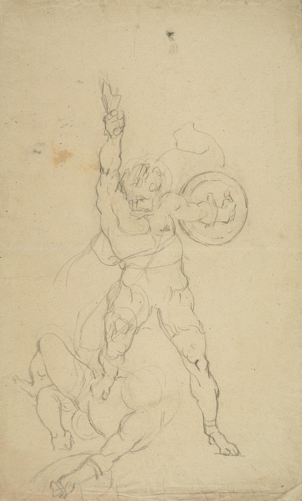 Victorious Warrior. Study for the Painting 'Sir William Wallace the Defender of Scotland ...'