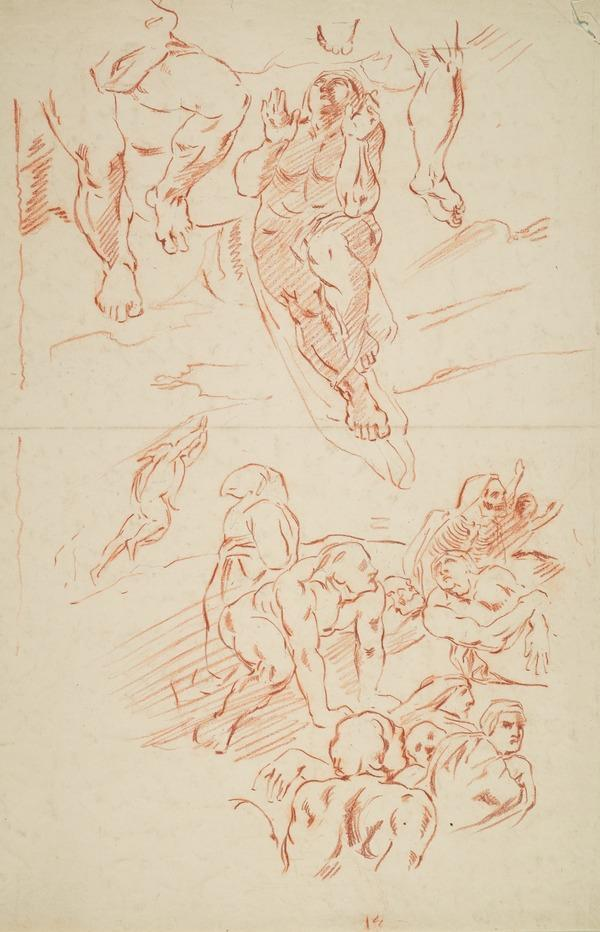 Copy after the Painting 'The Last Judgement' by Michelangelo