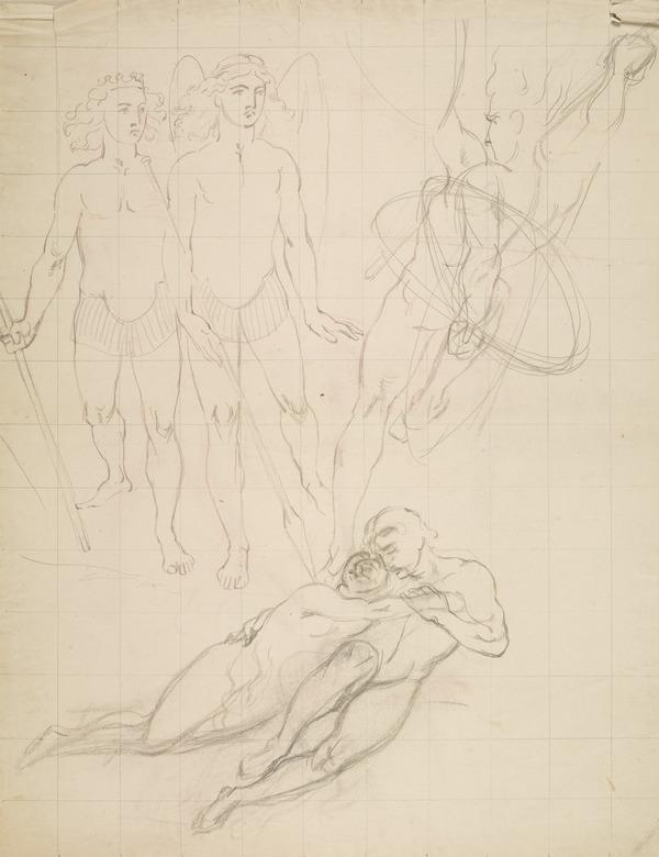 The Messengers of the Sun. Possibly a Study for 'Morning' from the Series 'The Four Times of Day' (About 1833)