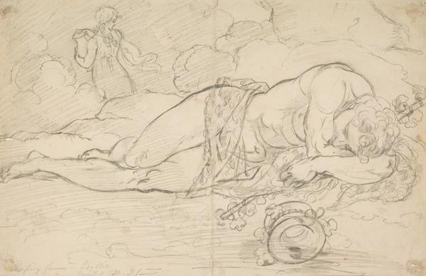 Sleeping Faun (Dated 1830)
