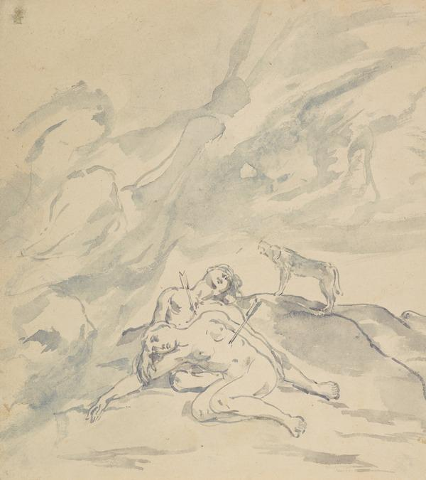 The Vengeance of Heaven. Possibly a Study for one of the 'Monograms'