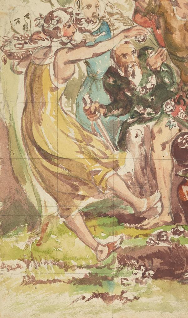 A Bacchante Dancing. Study for the Painting 'The Triumph of Love' (About 1846)