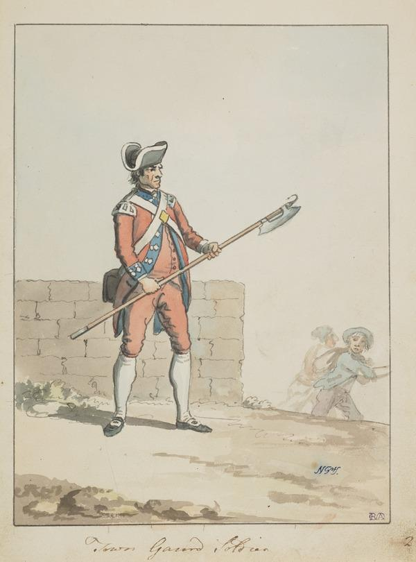 A Soldier of the Edinburgh City Guard (About 1785)