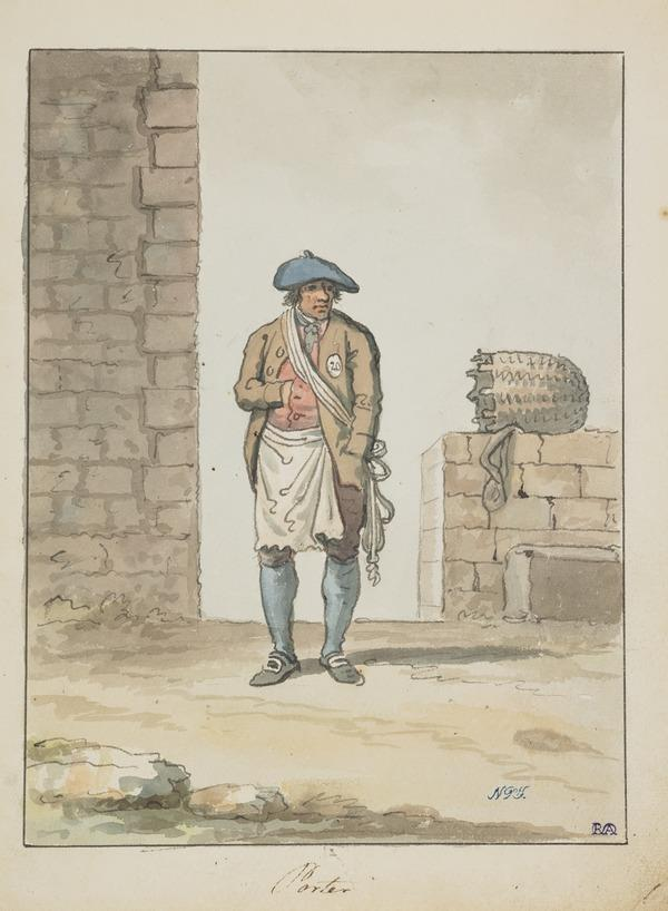 An Edinburgh Porter or Caddie (About 1785)
