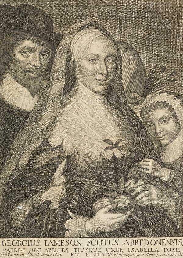 George Jamesone, 1589 / 1590 - 1644. Portrait painter (1728)