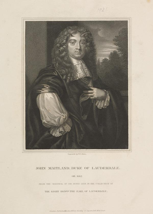 John Maitland, 1st Duke of Lauderdale, 1616 - 1682. Statesman (Published 1835)