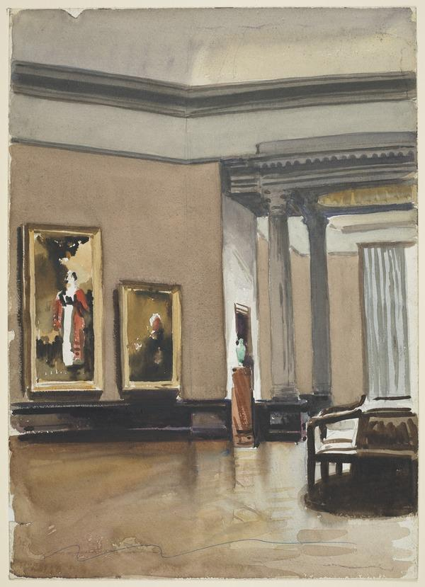 Interior of the National Gallery of Scotland