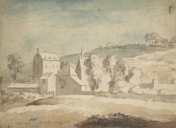 Manor House with Stables and Outhouses (Ayrshire ?) (Dated 1748)