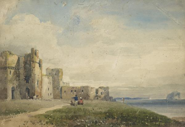 Tantallon Castle and the Bass Rock (Dated 1830)