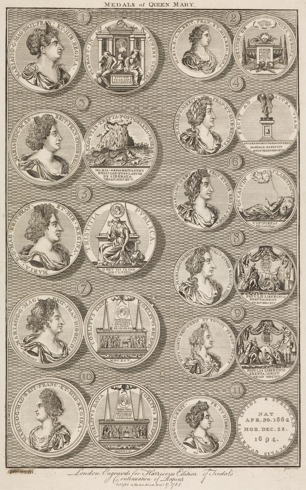 Mary II, 1662 - 1694. Reigned jointly with William III, 1688 - 1694. [Group] (Published 1785)