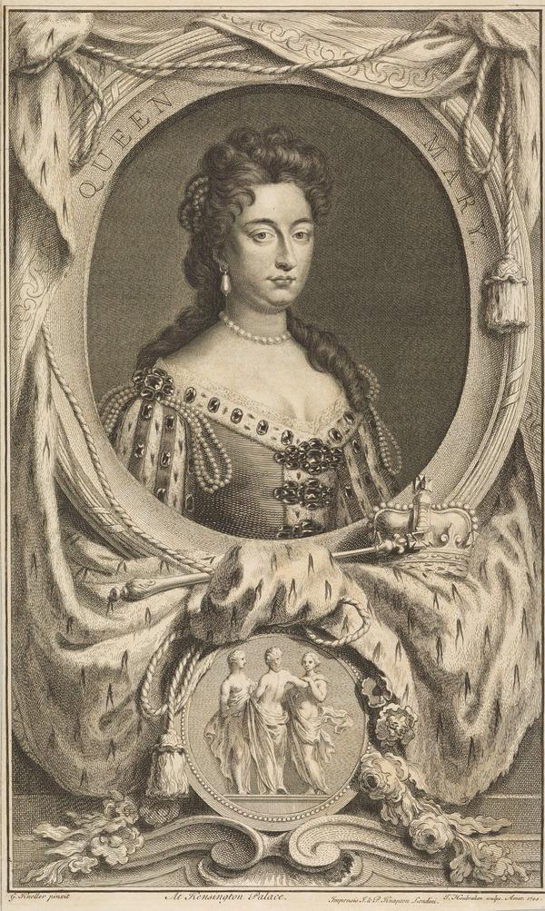 Mary II, 1662 - 1694. Reigned jointly with William III, 1688 - 1694. (1744)