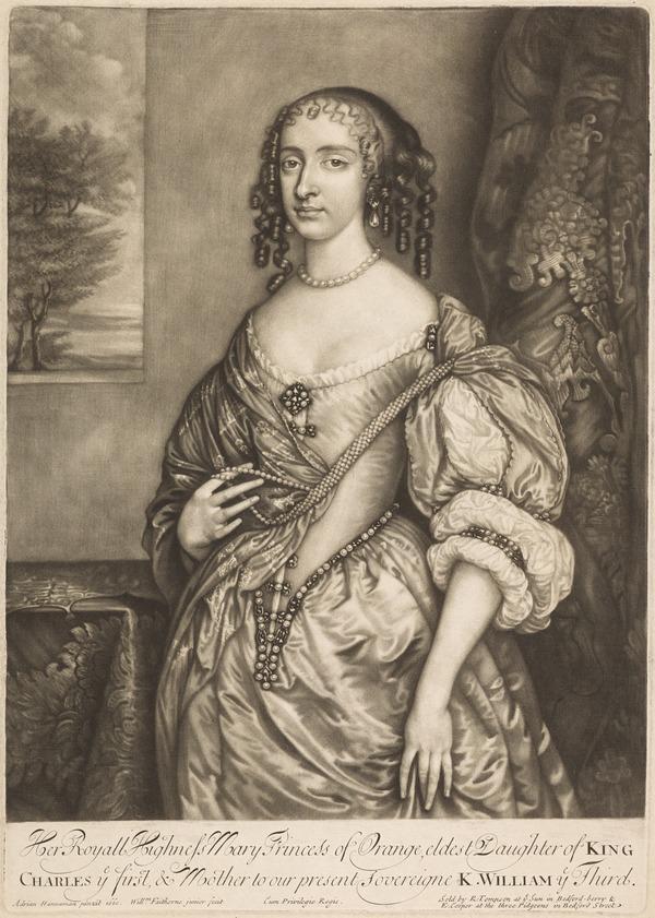 Princess Mary, 1631 - 1660. Eldest daughter of Charles I; Princess of Orange
