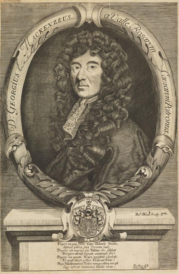 Sir George Mackenzie, 1636 - 1691. Founder of the Advocates' Library (Published 1716)