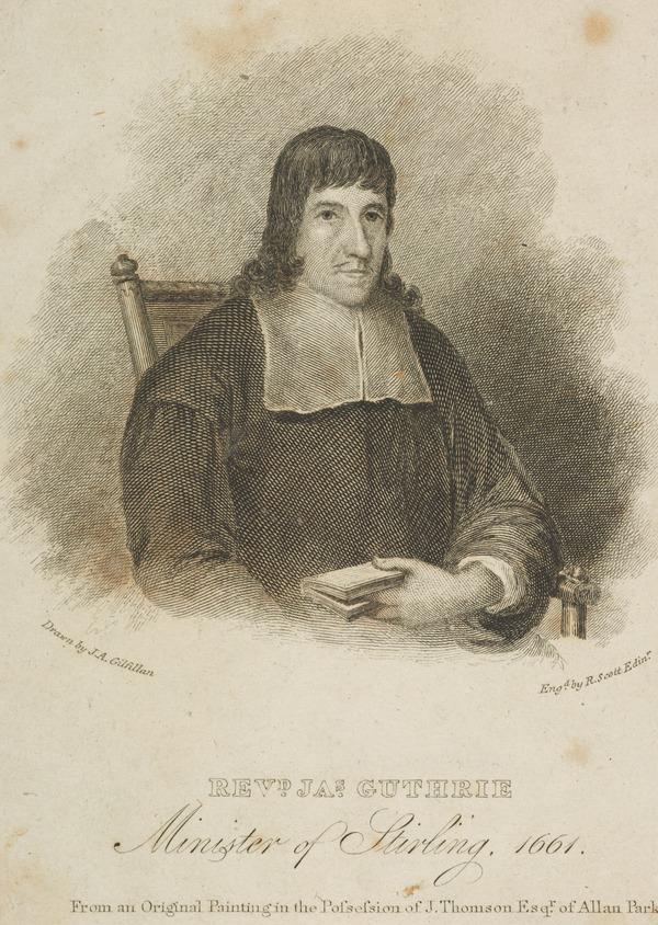 Rev. James Guthrie, c 1612 - 1661. Scottish Presbyterian divine; executed for treason