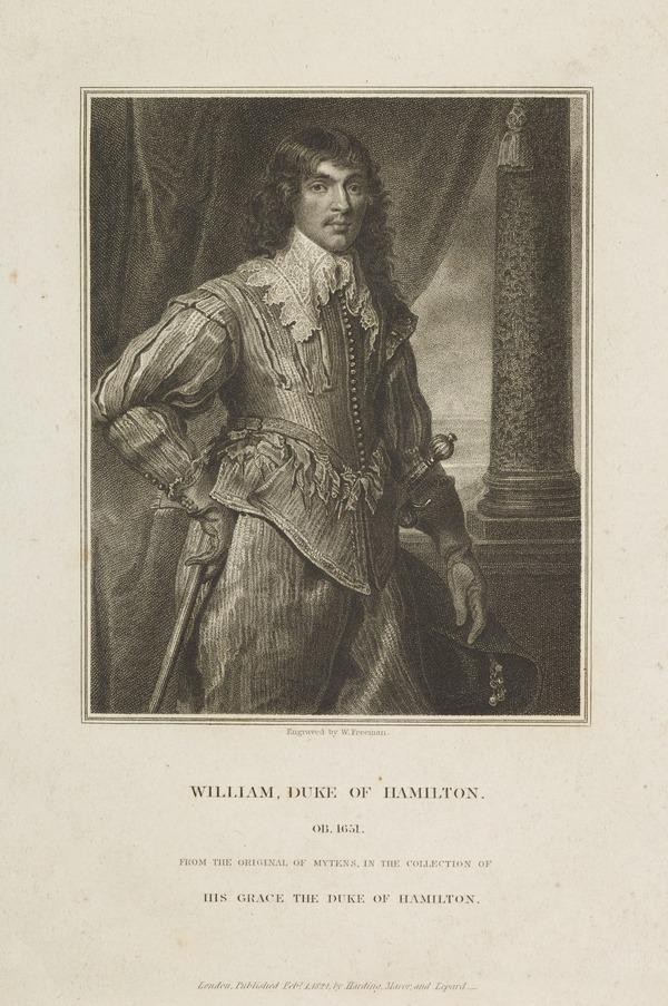 William Hamilton, 2nd Duke of Hamilton, 1616 - 1651. Soldier (Published 1824)