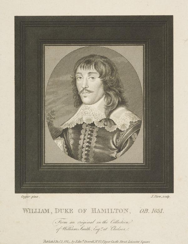 William Hamilton, 2nd Duke of Hamilton, 1616 - 1651. Soldier (Published 1814)