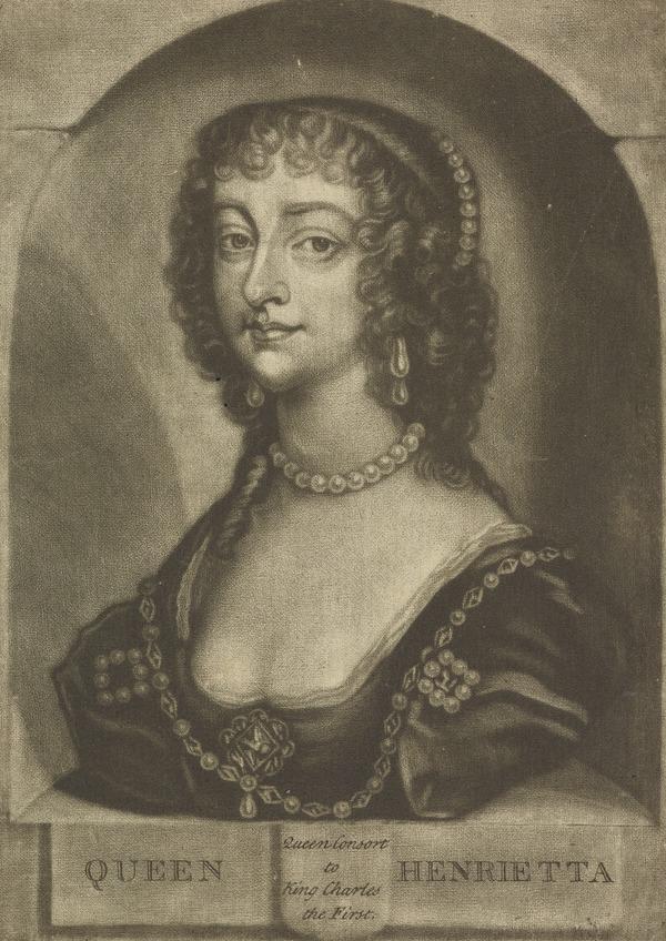 Queen Henrietta Maria, 1609 - 1669. Queen of Charles I