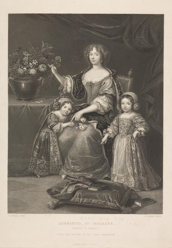 Henrietta Anne, Duchess of Orleans, 1644 - 1670. Fifth daughter of Charles I