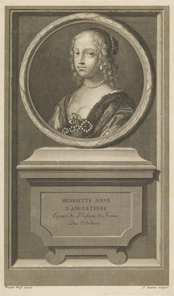 Henrietta Anne, Duchess of Orleans, 1644 - 1670. Fifth daughter of Charles I (Published 1707)