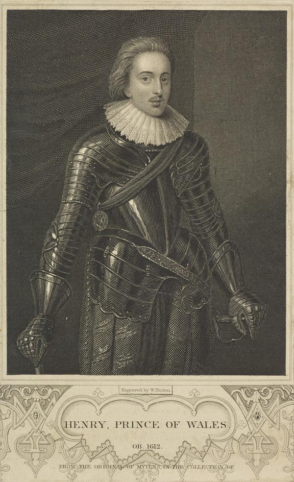 Henry, Prince of Wales, 1594 - 1612. Eldest son of James VI and I