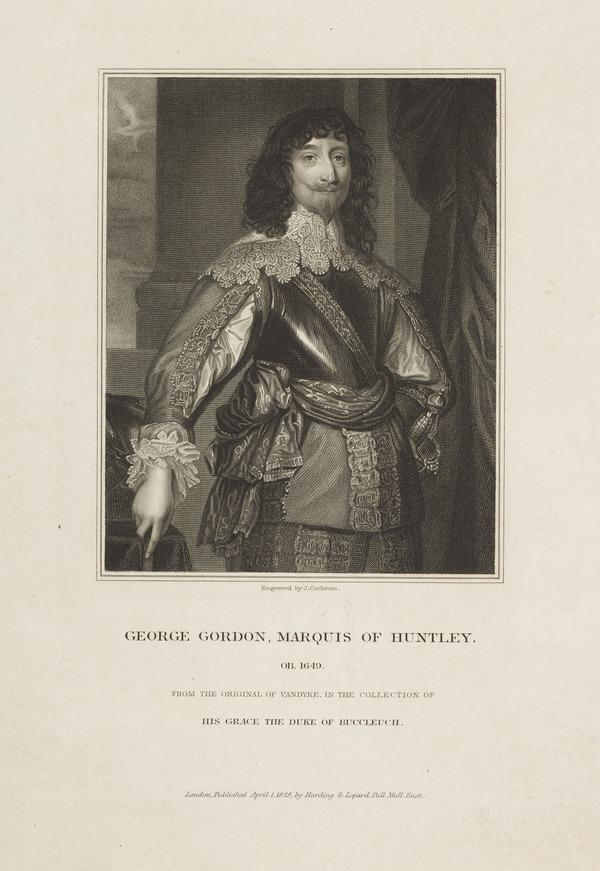 George Gordon, 2nd Marquess of Huntly, d. 1649. Royalist (Published 1829)