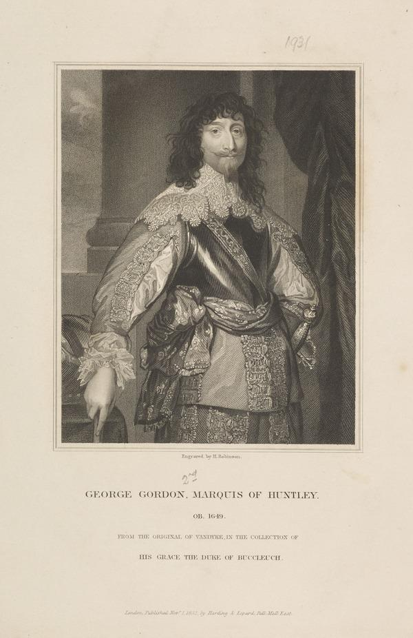 George Gordon, 2nd Marquess of Huntly, d. 1649. Royalist (Published 1832)