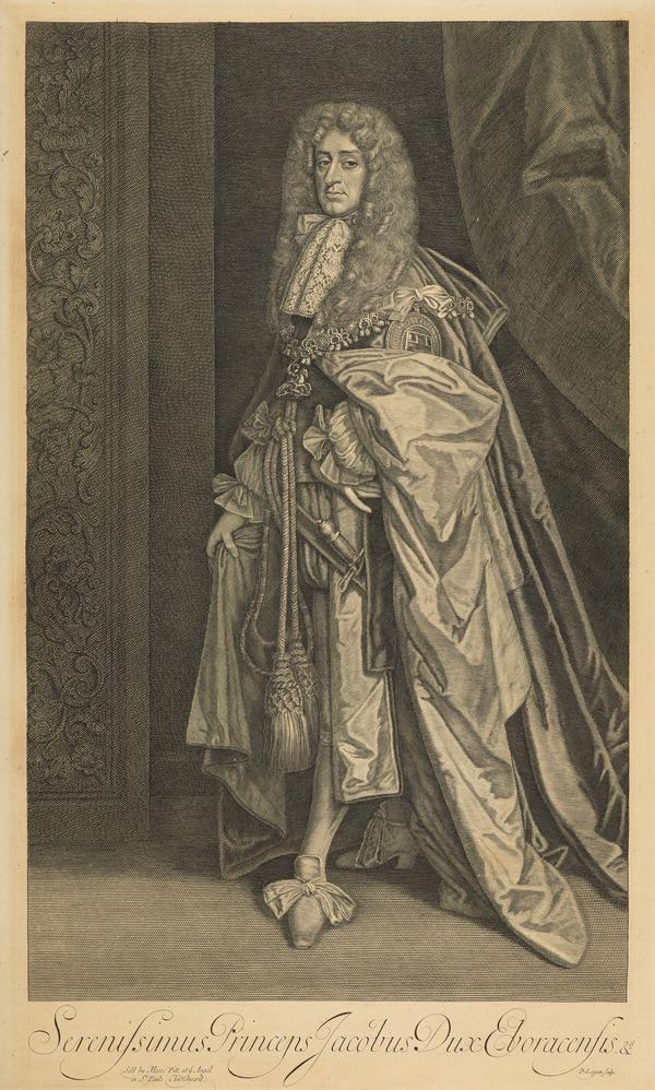 James VII and II, 1633 - 1701. Reigned 1685 - 1688 (Published 1680)