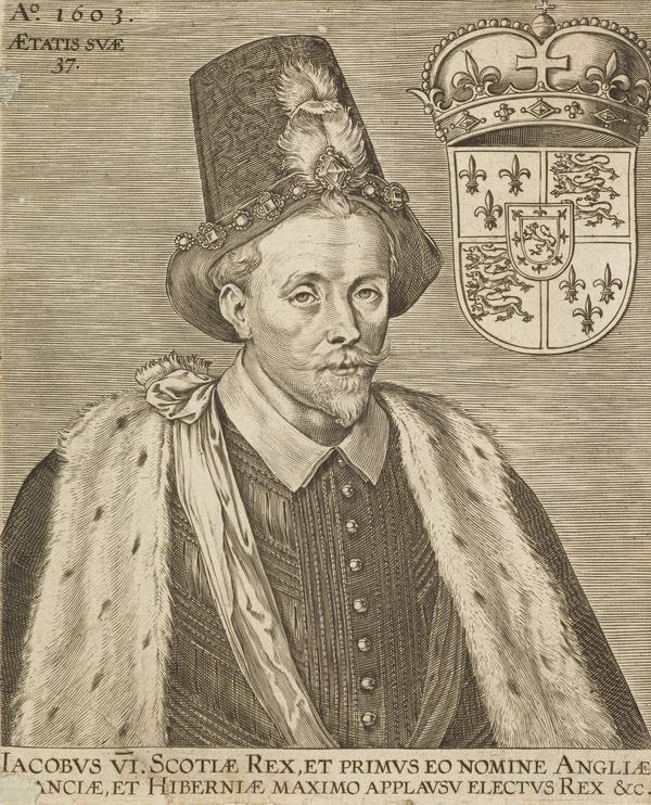 James VI and I, 1566 - 1625. King of Scotland 1567 - 1625. King of England and Ireland (Dated 1603)