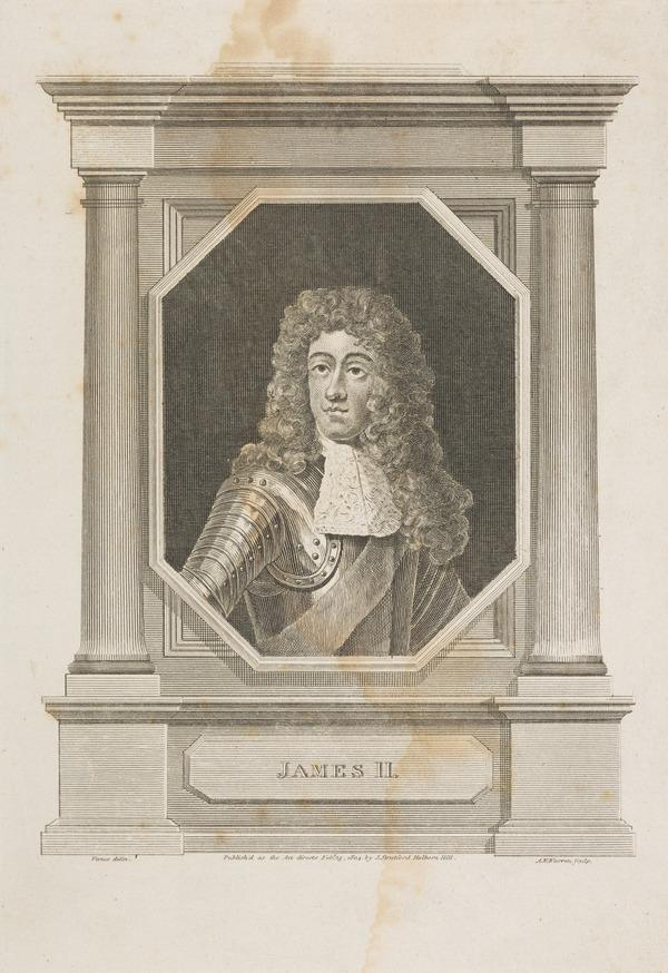 James VII and II, 1633 - 1701. Reigned 1685 - 1688 (Published 1804)