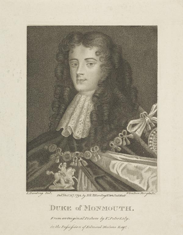 James Scott, Duke of Monmouth and Buccleuch, 1649 - 1685. Natural son of Charles II by Lucy Walter (Published 1792)